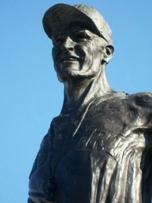 Don Faurot Statue Detail image. Click for full size.