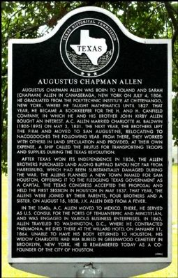 Augustus Chapman Allen Marker image. Click for full size.