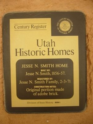 Jesse N. Smith Home Marker Photo, Click for full size