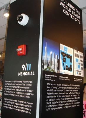 Display inside the building's 9/11 Memorial Visitors Center Photo, Click for full size