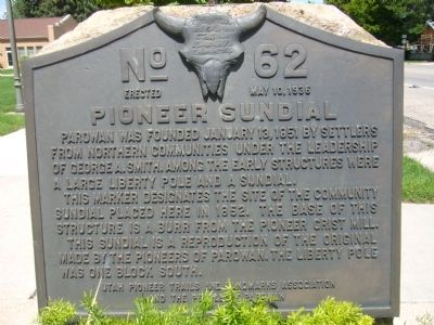 Pioneer Sundial Marker Photo, Click for full size