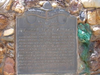 Pioneer Rock Church Marker image. Click for full size.
