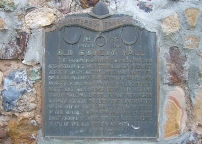 Old Comedy Hall Marker Photo, Click for full size