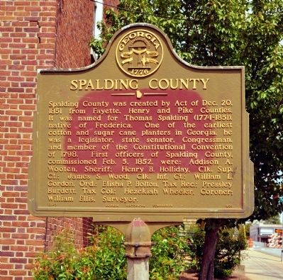 Spalding County Marker image. Click for full size.