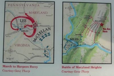 Maps of the March to Harpers Ferry and Battle of Maryland Heights Photo, Click for full size