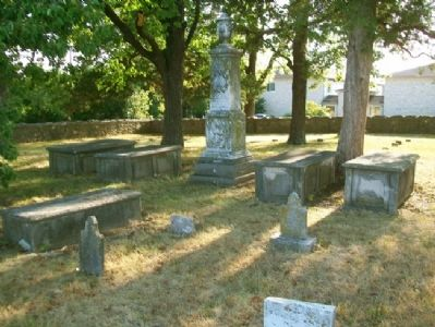 Jewell Cemetery Grave Markers image. Click for full size.