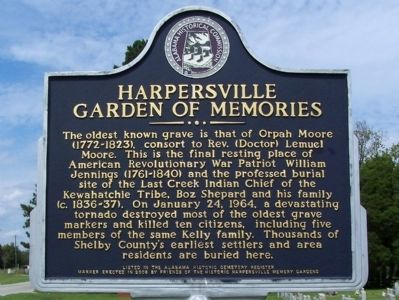 Harpersville Garden of Memories Marker image. Click for full size.