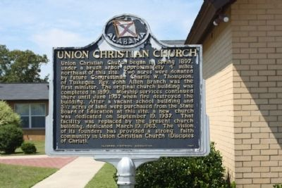Union Christian Church Marker Photo, Click for full size