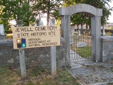 Jewell Cemetery Sign image. Click for full size.