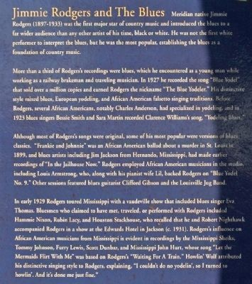 Jimmie Rodgers & The Blues Marker, Reverse side text Photo, Click for full size