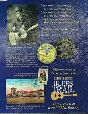 Jimmie Rodgers & The Blues Marker,reverse side Photo, Click for full size