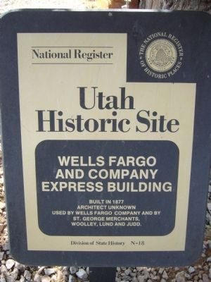 Wells Fargo and Company Express Building Marker image. Click for full size.