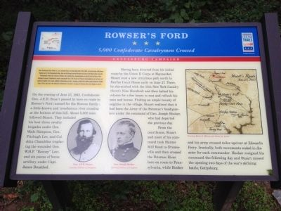 Rowser's Ford Marker image. Click for full size.