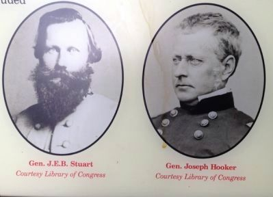 Generals Stuart and Hooker image. Click for full size.