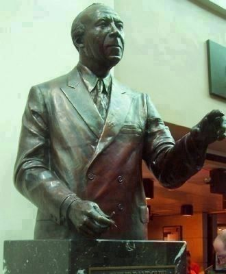 Labor leader, Asa Phillip Randolph: memorial bust near the AMTRAK passenger waitng room Photo, Click for full size