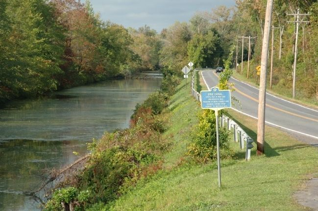 The Erie Canal & Erie Canal Marker image. Click for full size.