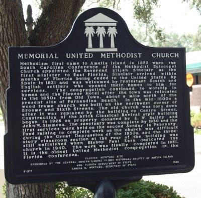 Memorial United Methodist Church Marker image. Click for full size.