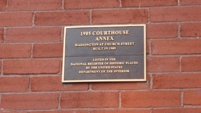 1905 Courthouse Annex Marker Photo, Click for full size