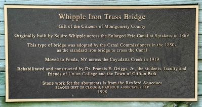Whipple Iron Truss Bridge Marker Photo, Click for full size