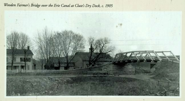 Farmer's Bridge at Clutes Dry Dock , c 1905 Photo, Click for full size
