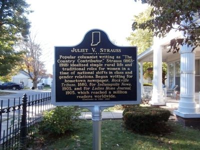 Side One - - Juliet V. Strauss Marker Photo, Click for full size