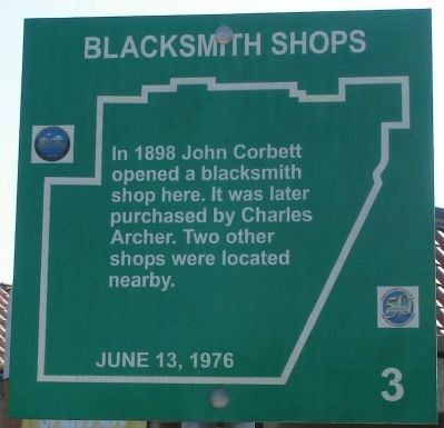 Blacksmith Shops Marker Photo, Click for full size