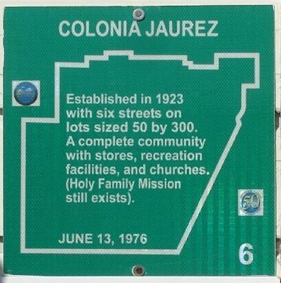 Colonia Jaurez Marker image. Click for full size.