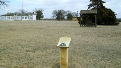 Well House Replica and Marker Photo, Click for full size