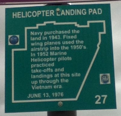 Helicopter Landing Pad Marker Photo, Click for full size