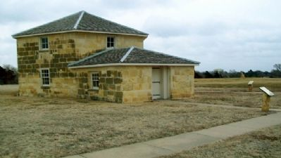 Blockhouse and Marker image. Click for full size.