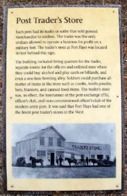 Post Trader's Store Marker image. Click for full size.