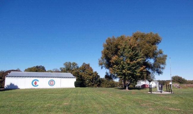 Wide View - - Birthplace of Mordecai Brown Marker image. Click for full size.