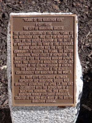 """Flame of the Marathon Run"" Marker Photo, Click for full size"