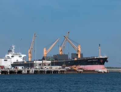 Nikkei Phoenix Cargo Ship docked at Port Canaveral image. Click for full size.