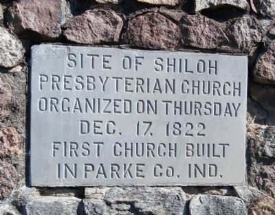 First Church Built in Parke County Indiana Marker image. Click for full size.