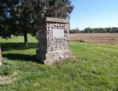 Wide View - - First Church Built in Parke County Indiana Marker image. Click for full size.