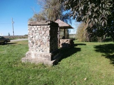 Other View - - First Church Built in Parke County Indiana Marker image. Click for full size.