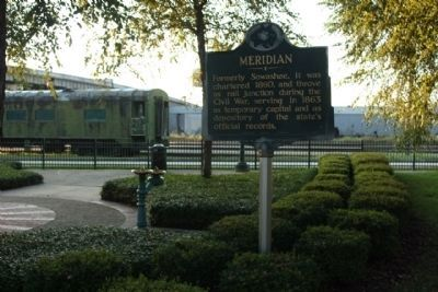 Meridian Marker near Union Station Photo, Click for full size