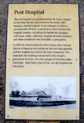 Post Hospital Marker Photo, Click for full size
