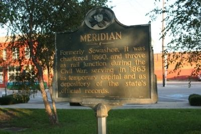 Meridian Marker seen near Front Street Photo, Click for full size