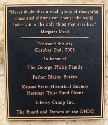 Marker on United States Land Office Photo, Click for full size