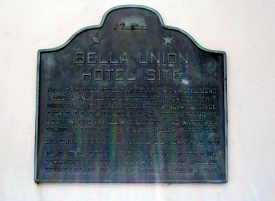 Bella Union Hotel Site Marker Photo, Click for full size