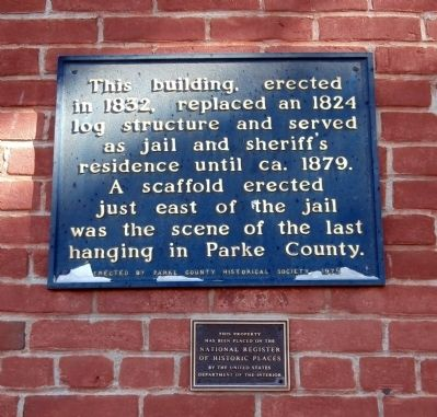 Old 1832 Jail Marker Photo, Click for full size