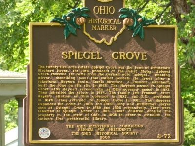 Spiegel Grove Marker image. Click for full size.