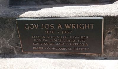 Gov. Joseph A. Wright Marker Photo, Click for full size