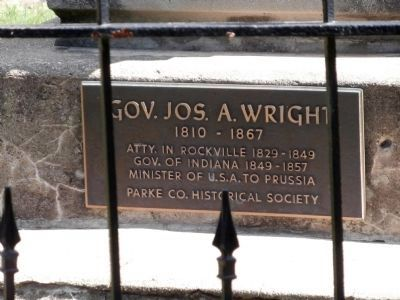 Other View - - Gov. Joseph A. Wright Marker Photo, Click for full size