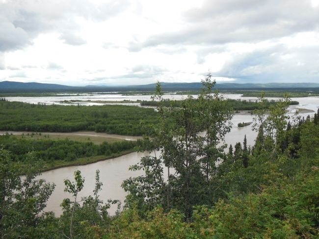 Tanana River overlook, northeast view image. Click for full size.