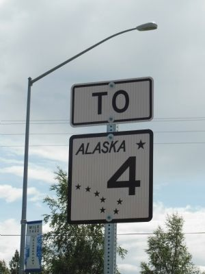 Alaska Highway 4 (Richardson Highway) Sign Photo, Click for full size