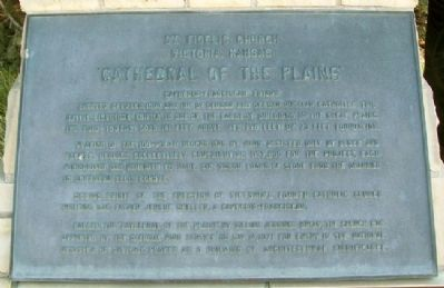 Cathedral of the Plains Marker image. Click for full size.
