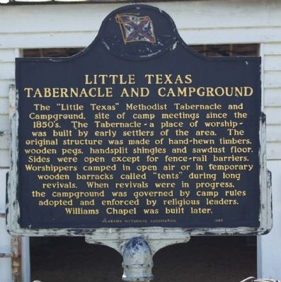 Little Texas Tabernacle and Campground Marker image. Click for full size.